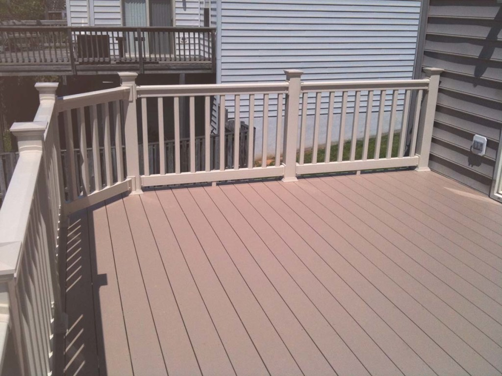 What is capped composite decking trademark deck patio for What is capped composite decking